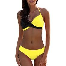 Womens Padded Push-up Bra Bikini Set Swimsuit Bathing Suit Swimwear Beachwear Vitality Sexy Bikinis Solid Push Up Bikini 2021