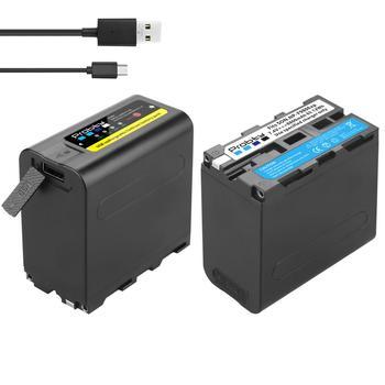 Nueva salida USB, batería de NP-F970 de 8800mAh con indicador de potencia LED para Sony NP-F980, NP-F970, NP-F975, NP-F960, DCR, DSR