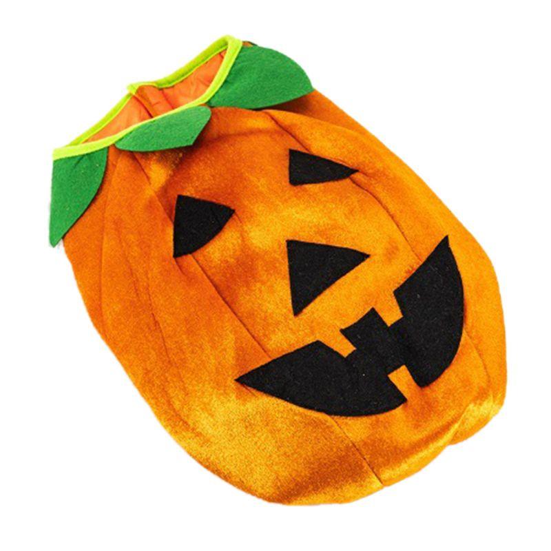 Halloween Transfiguration Pet Pumpkin Coat Crossdresser Costume Soft Dog Suit E7CB
