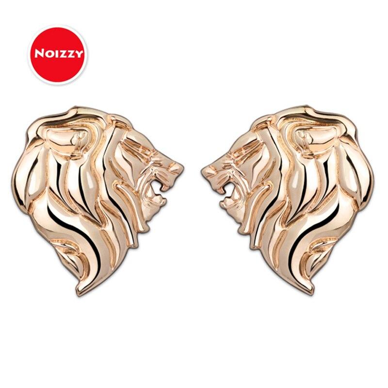 Noizzy Lion Prestige 100% 3D Metal Car Sticker Auto Emblem Badge Chrome Black Gold for Peugeot 307 206 308 407 3008 207 208 508