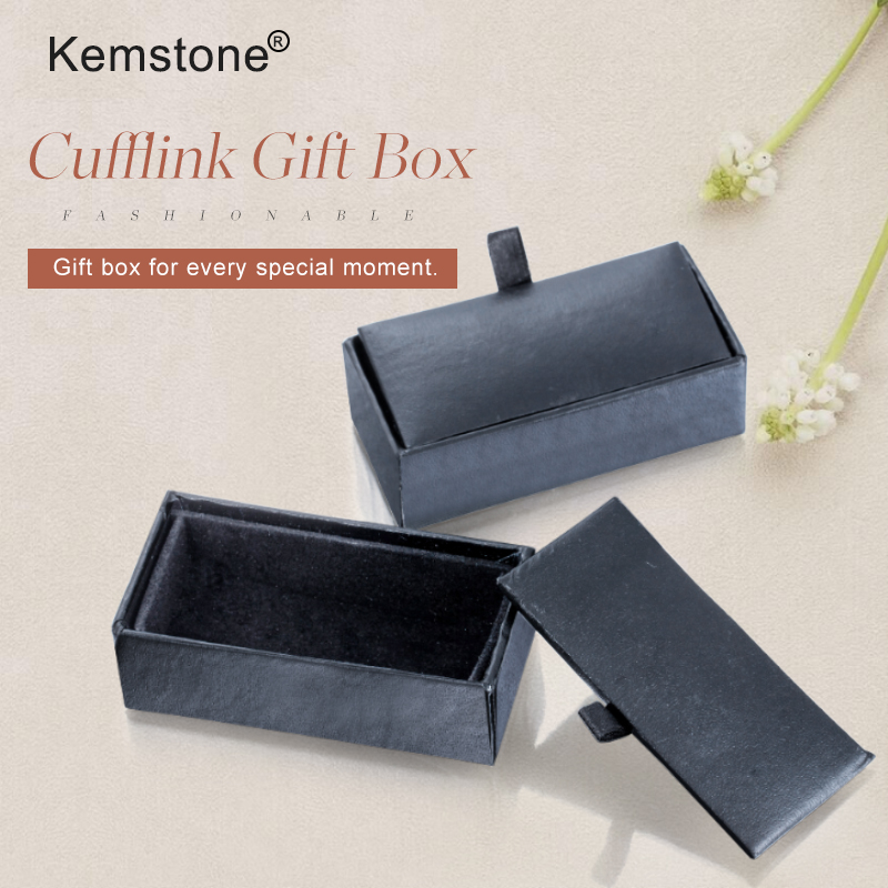 Kemstone Cufflink Boxes,Tie Clips Boxes Packing For Cufflinks 12pcs/lot Cfbox3#