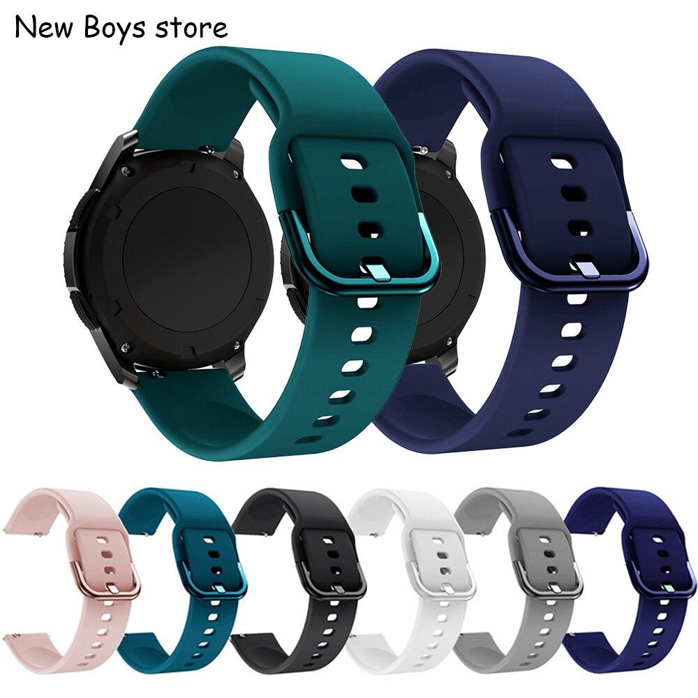 Ремешок силиконовый для наручных часов, мягкий спортивный браслет для samsung Gear S3, GALAXY watch, huawei GT2, Amazfit Bip, active loop, 20 22 мм