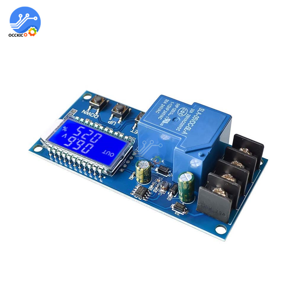 XY-L30A BMS 6-60V 30A Storage Battery 18650 Lithium Battery Charging Protection Board Controller Module With LCD Display