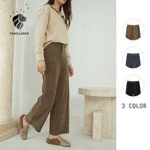 Женские вельветовые брюки fansilнен повседневные широкие Капри