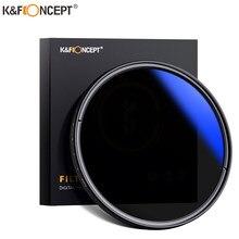 K & f conceito nd2 para nd400 nd lente filtro fino fader variável ajustável densidade neutra 49mm 52mm 58mm 62mm 67mm 77mm