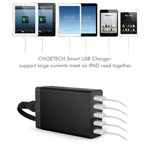 Image 4 - スマートマルチusb充電器5 usbトラベル壁の充電器アダプタ40ワット5v 8A米国/eu/auプラグ電話充電器iphoneサムスン華為xiaomi
