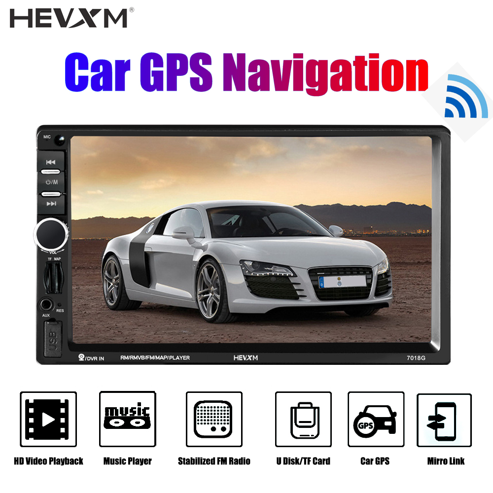 7 Inch Car GPS Navigation Android Bluetooth 2 Din Autoradio Universal MP5 Player Rearview Car Mirrorlink Stereo Audio 7018G