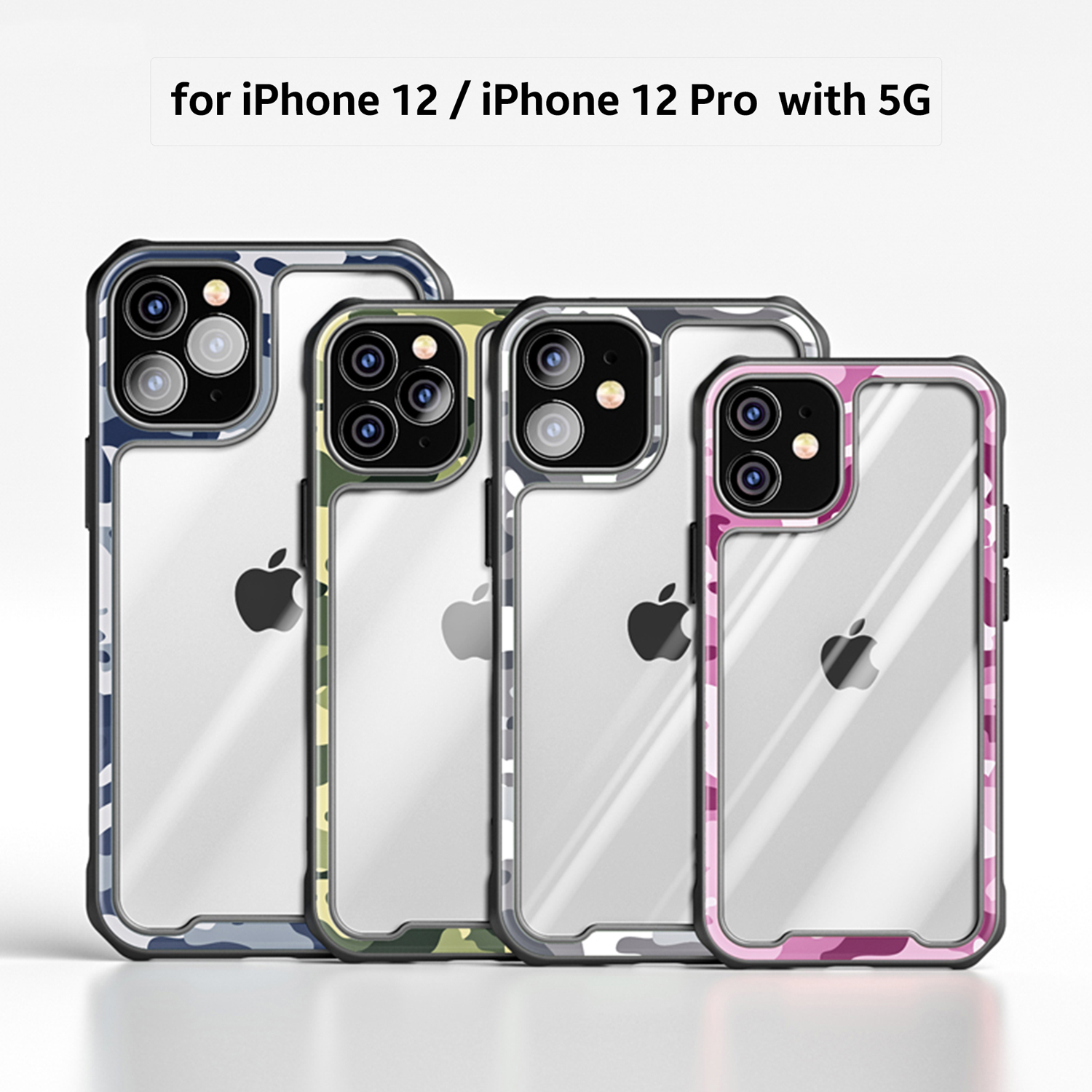 Ultra Hybrid Comfort Grip Protective Camouflage Case Cover for iPhone 12 Pro Max