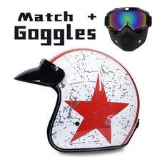 Синтетическая кожа мотоциклетный шлем Ретро Винтаж круизер Мото