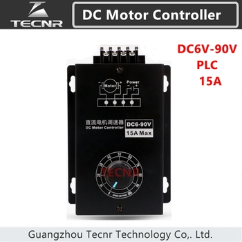 DC Motor Controller DC 6-90V  Universal Positive Reversal PMW Speed Regulator Support PLC Control 15A
