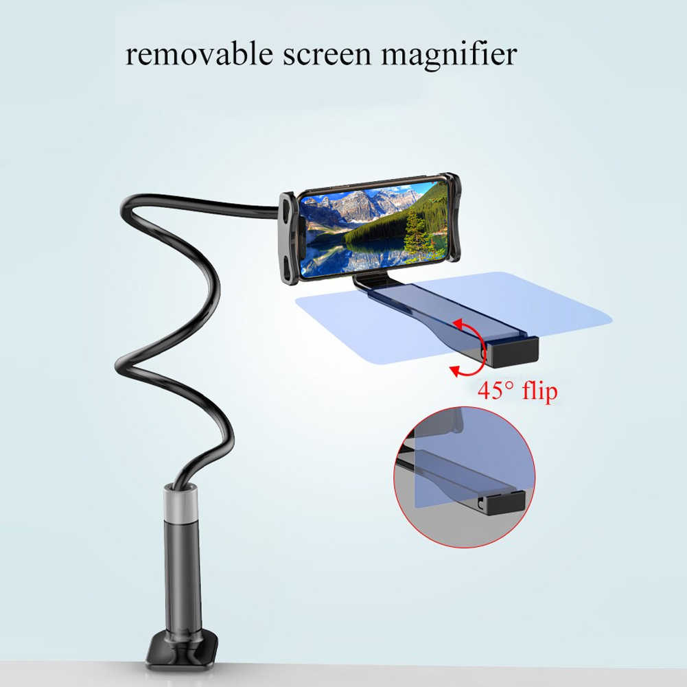 Telefon komórkowy wysokiej rozdzielczości uchwyt projekcyjny regulowany elastyczny wszystkie kąty uchwyt na tablet telefon 3D HD szkło powiększające ekranu telefonu