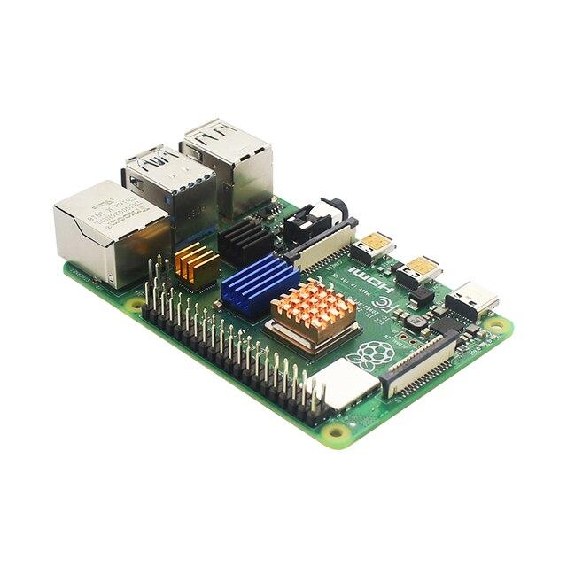 Raspberry Pi 4 Model B + obudowa + zasilacz + karta SD 64GB + radiator opcjonalny ekran dotykowy 3.5 cala/wentylator + kabel HDMI do RPI 4