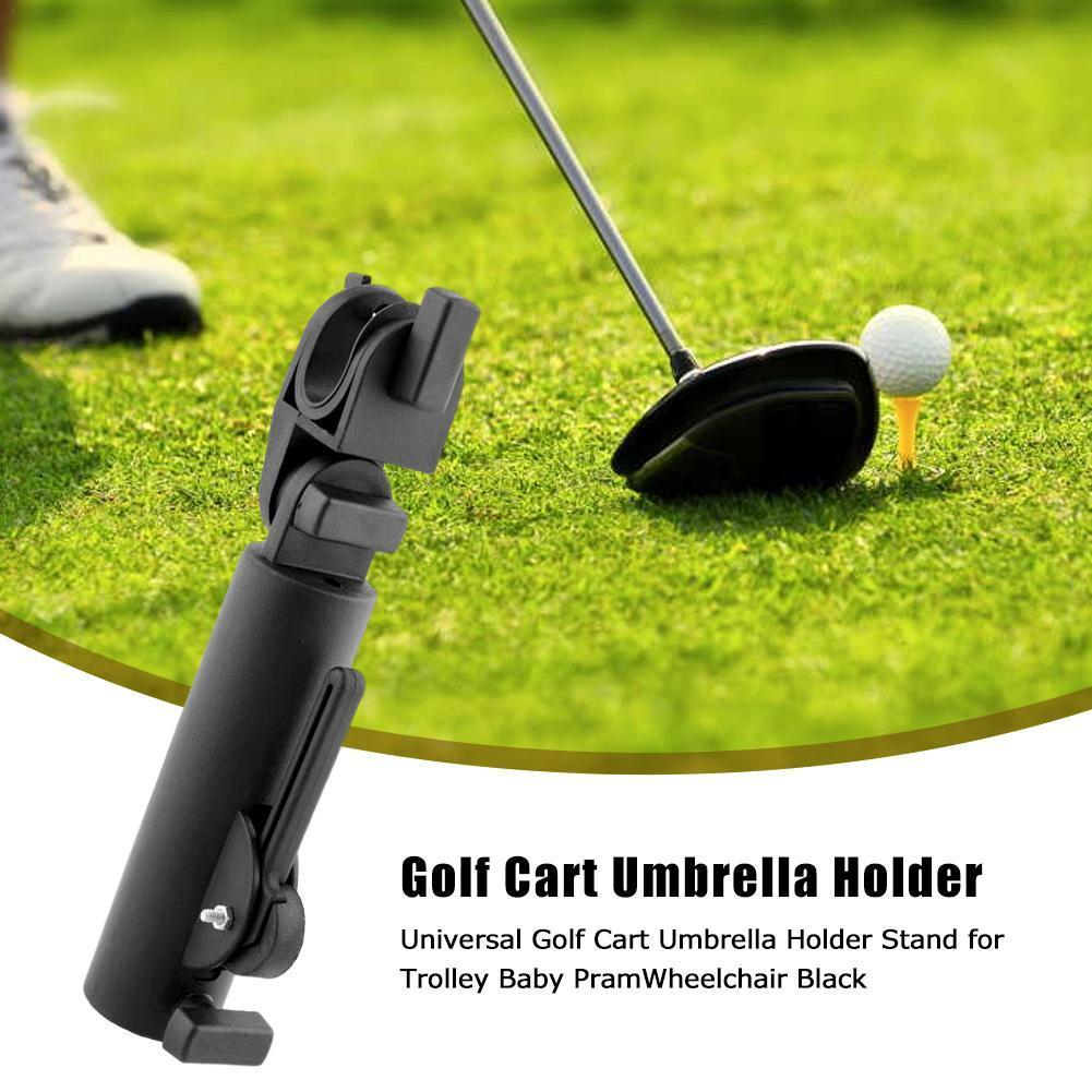 High Quality 1PC Outdoor Trolley Baby Pram Golf Cart Double Lock Stand Wheelchair Universal Umbrella Connector Accessory Ho T4N5