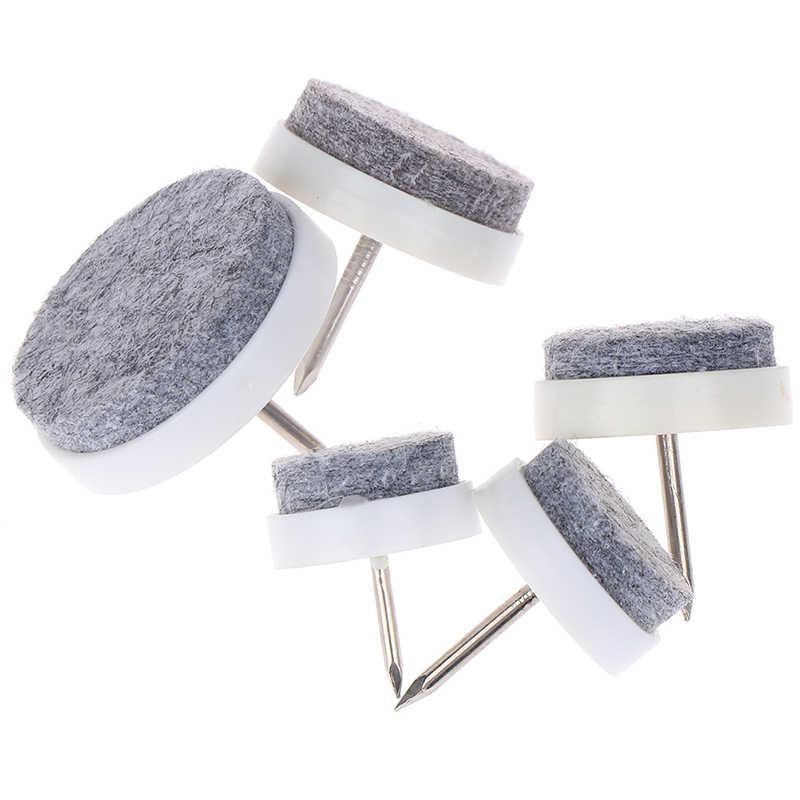10 pçs/lote Sentiu Protetor Prego Diâmetro 18-30mm Tabela Cadeira Pés Pernas Skid Telha Feltro Desliza Chão protetor de unha Juntas