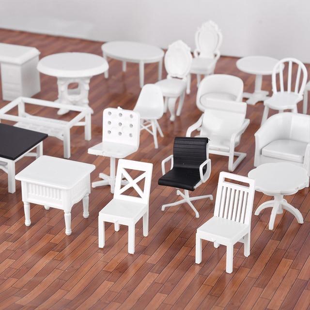 4 pièces bricolage sable table matériau de construction modèle chaises ABS meubles 1/25 échelle pour miniature disposition pour miniuatre paysage bricolage