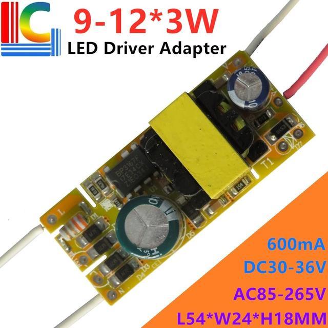 סיטונאי 100PCs 18W 19W 20W 21W 24W Led נהג 300mA 450mA 600mA אספקת חשמל DC 30 36 V/60 80 V תאורת שנאי