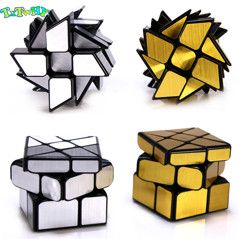 Mirror Cube 3x3x3 Cubo Magico  Professional 3x3 Golden Silver Brushed Hot Wheel Magic Cube 3*3*3 Educational Toys Children Gift
