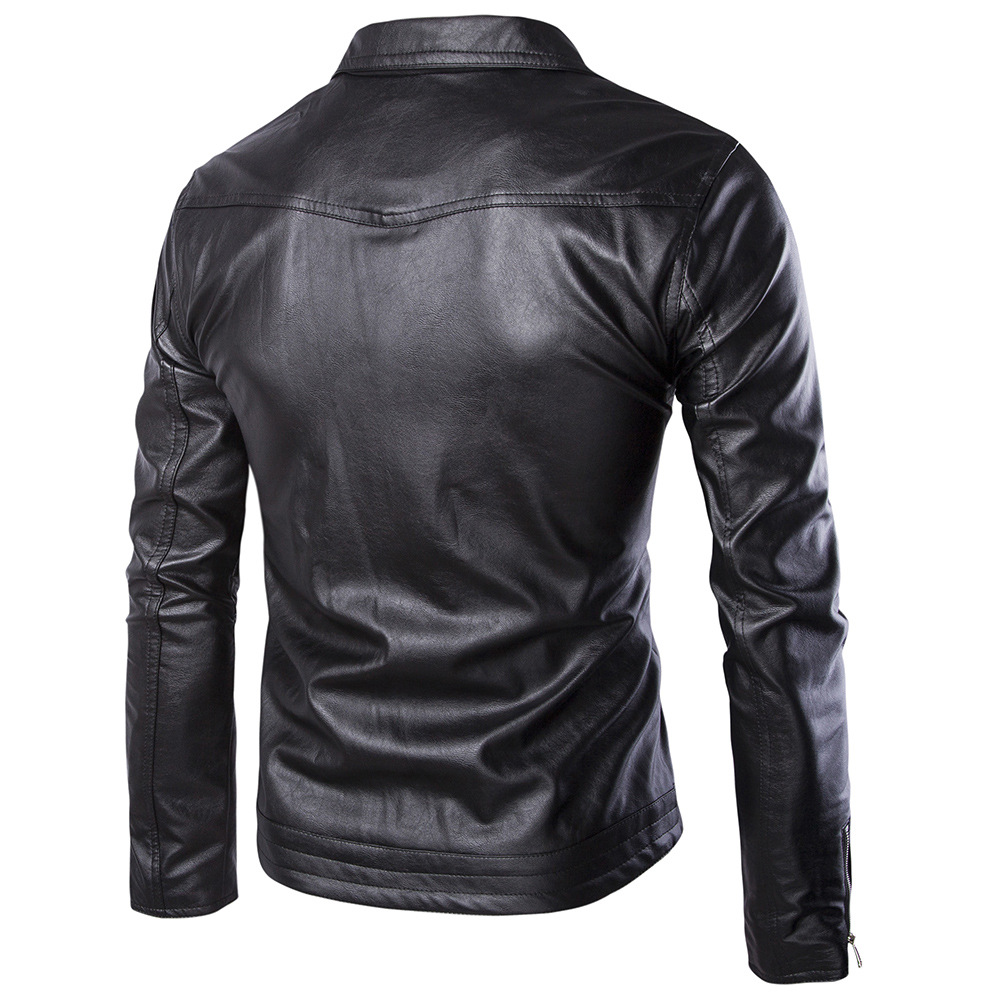 2019 Autumn And Winter New Products Men Washing Locomotive Leather Coat Omega-Large Size Leather Coat Men'S Wear