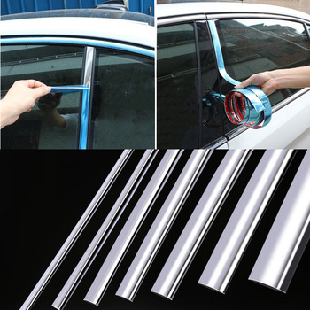 Chrome Moulding Trim Car Door Protector Stickers Strip Bumper Grill Car Anti-Collision Tape Door Edge Guard Plate Bright Sticker 5m car anti collision side door edge guard rubber bumper protection sticker strip