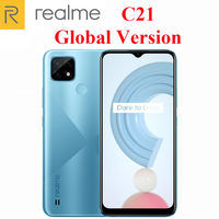 Global Version Official New  Realme C21 Cell Phone Helio G35 Octa Core 6.5inch 3-Card Slot 13MP Camera 5000mAh Massive Battery 2