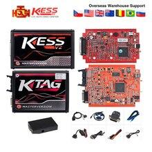 V2.47 ЕС красный Kess V2 V5.017 онлайн OBD2 менеджер Тюнинг Комплект K-TAG V7.020 4 светодиодный Kess 5,017 BDM Рамка KTAG V2.25 ECU программист