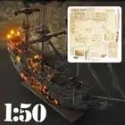 1:50 DIY Handwerk Holz Boot Modell Kit für Schwarz Perle Segeln Schiff für s der Karibik Montage Boot modell kit - 1