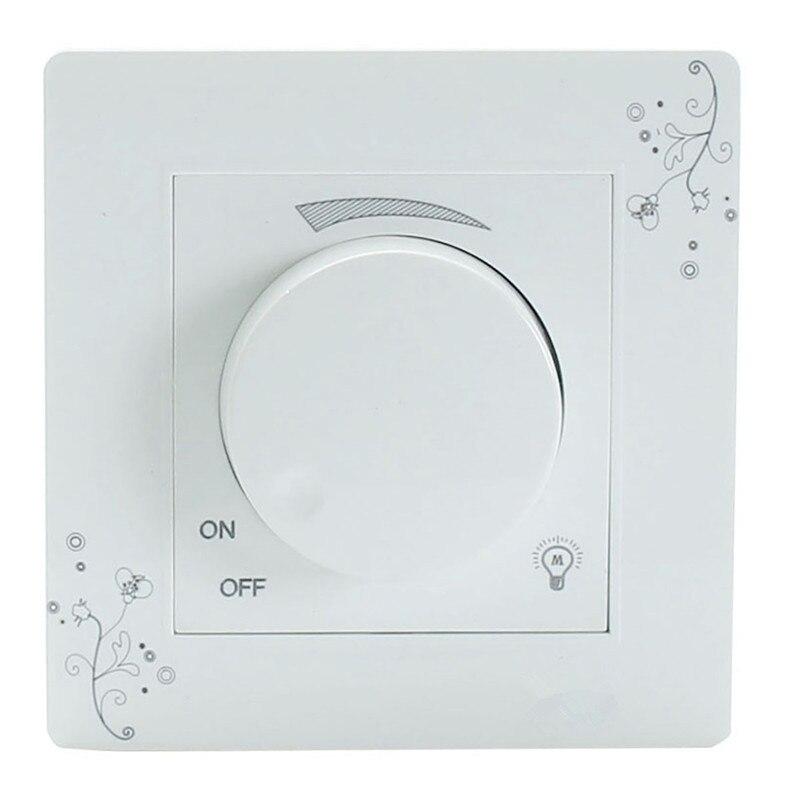 Interruptor de atenuación de luz, controlador de brillo ajustable, lámpara, Panel de interruptor de pared de luminosidad AC 110-250V