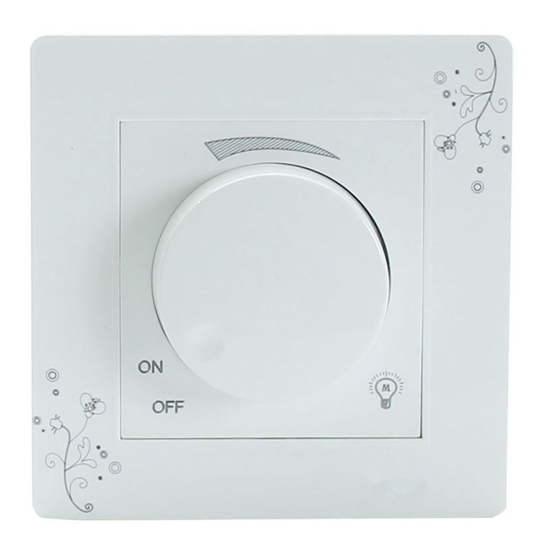 Light Dimmer Switch Adjustable Brightness Controller Lamp Light Luminosity Wall Switch Panel AC 110-250V