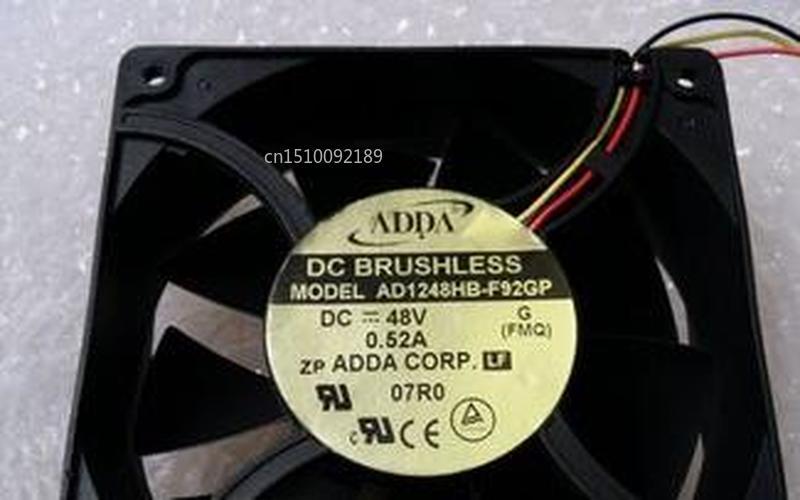 For AD1248HB-F92GP DC 48V 0.52A 120x120X38mm 3-Wire Server Cooler Fan Free Shipping