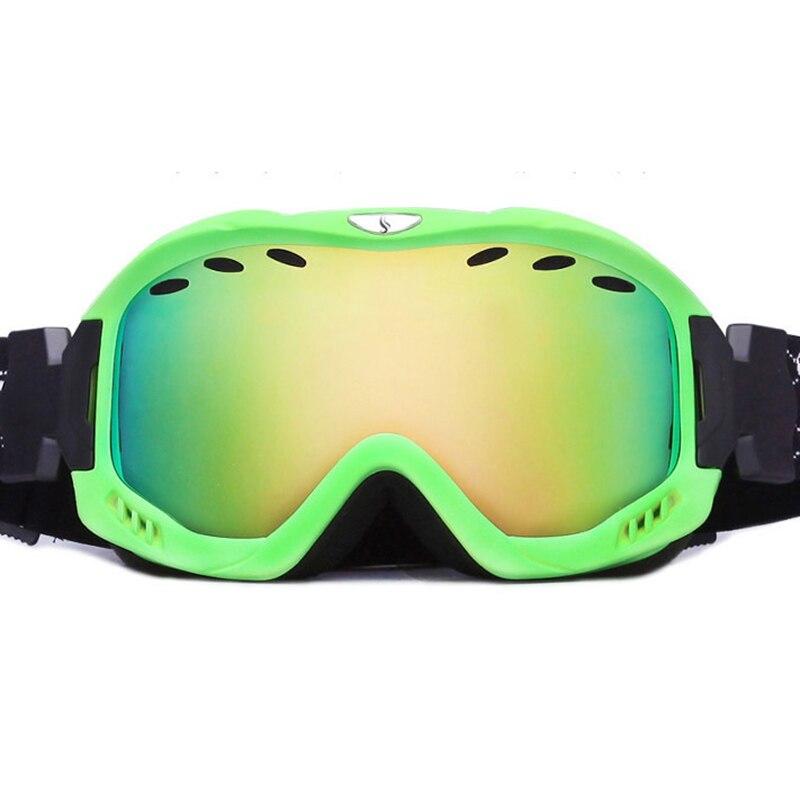 Lunettes de Ski Double couche lentille Anti-buée UV 400 lunettes de Ski professionnel Ski Snowboard hommes femmes lunettes de neige marque large côté
