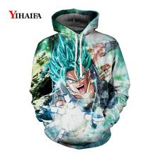 2019 Newest Mens Womens 3D Sweatshirt Space Galaxy Dragon Ball Z Anime Hoodies Goku Graphic Print Sportswear Pullover Tops