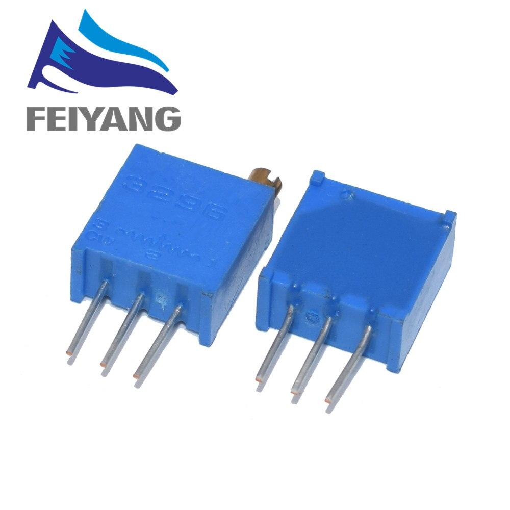 Резистивный потенциометр для триммера, 10 шт., серия 3296 Вт, 1K 2K 5K 10K 20K 50K 100K 200K 500K 1M