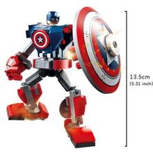 CaptainAmeric Marvel Avengers Star Wars Black Warrior Iron Man Homem Aranha Figure brinquedos Toy Building Block Action Assembly