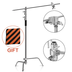 2.6M/8.5FT Stainless Steel Century Foldable Light Stand Tripod Magic Leg Photography C-Stand For Spot Light,Softbox,Photo Studio