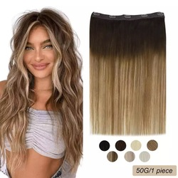 Ugeat Clip in Hair Extensions Remy Human Hair 14-24