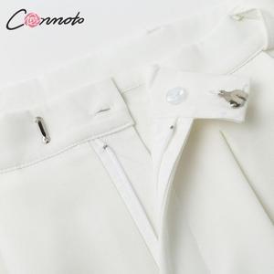 Image 5 - Conmoto pantalon à jambes larges pour femmes, style vintage, style décontracté, taille haute, long, automne 2019