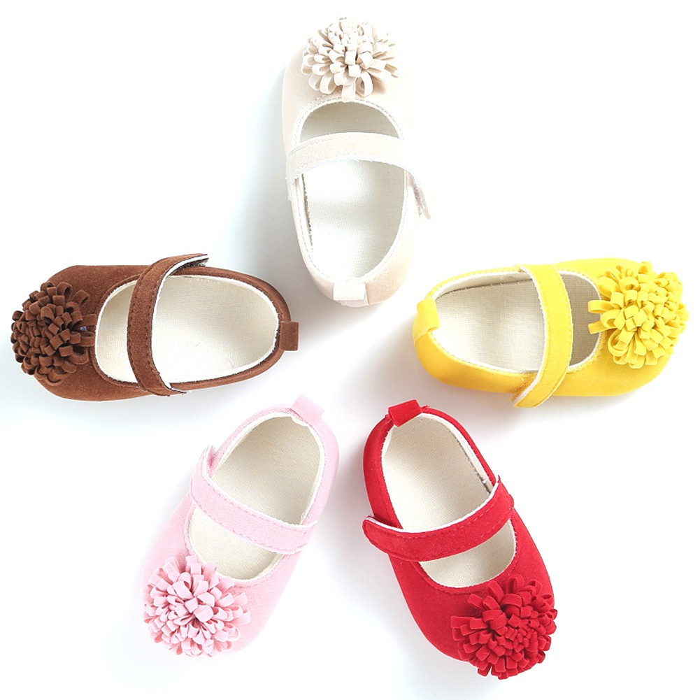 5 Color Flower Newborn Baby Girl Shoes Shoes Candy Colors Soft Bottom Anti-slip Classic Princess Shoe For Newborn