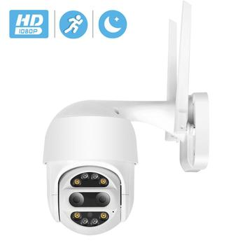 HD 1080P PTZ IP Camera Wifi Outdoor Auto Tracking 2MP CCTV Security Camera 4X Optical Zoom Alarm Dome Wireless Camera IP SD Card цена 2017