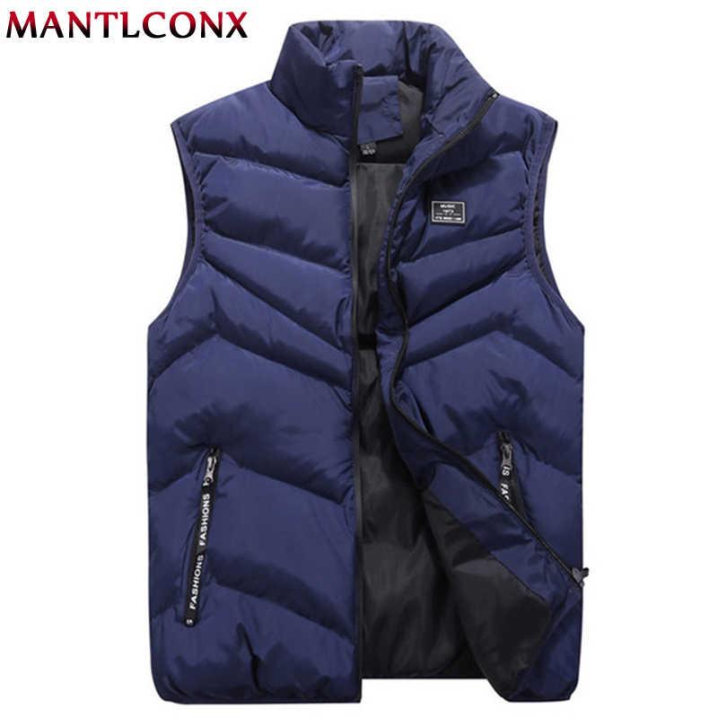Mantlconx Herfst Winter Mannen Vest Warm Vest Mannen Mouwloze Jas Winter Vesten Man Uitloper Merk Vest Mannelijk Plus Size 8XL 7XL