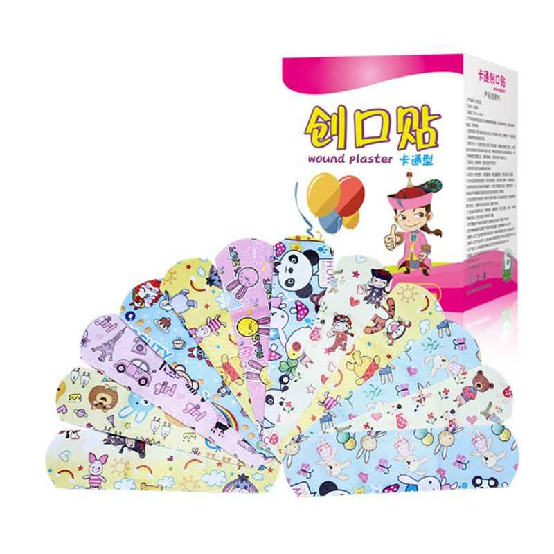 new 120 Pcs/box Cartoon Band-aid Cute Mini Children Breathable Waterproof Bandage Medical ok Bandages Hemostatic Patch