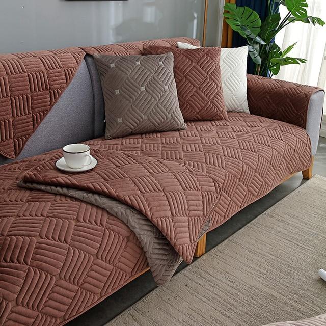 Фото modern minimalist sectional sofa cover armchair solid color цена