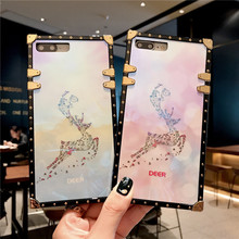 Fashion print deer mobile phone cover fundas For Apple iPhone Xs max cases XR X 8 7 plus 6 6s