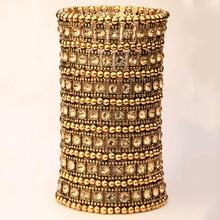 متعدد الطبقات تمتد الكفة سوار المرأة كريستال الزفاف الزفاف مجوهرات الأزياء الذهب الفضة اللون بالجملة drop shiping B15 7 صف