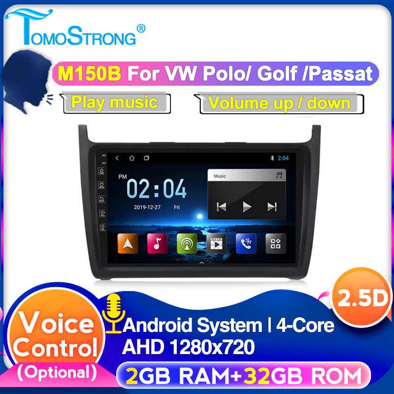 TOMOSTRONG IPS DSP coche GPS reproductor de Radio para VW Volkswagen POLO sedán 2008-2015 soporte carplay 4G LTE cámara de visión trasera