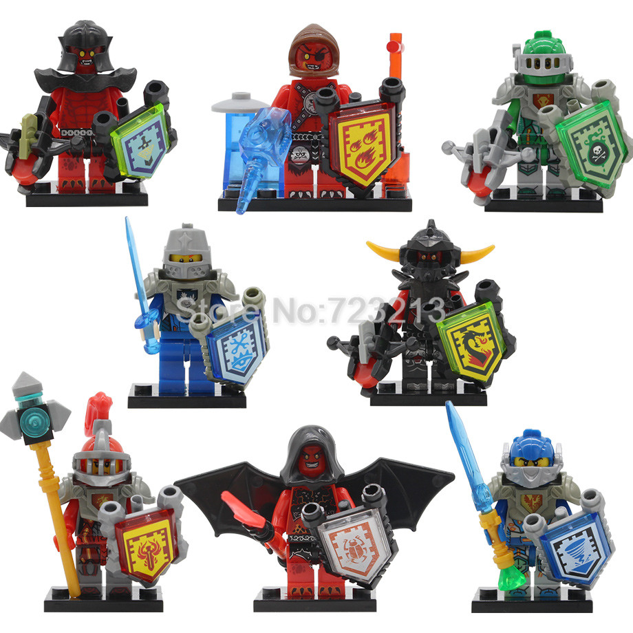 Single Sale Compatible Nexoed Knights Castle Warriors Figure Cartoon Building Blocks Sets Model Bricks Toys For Children Legoing