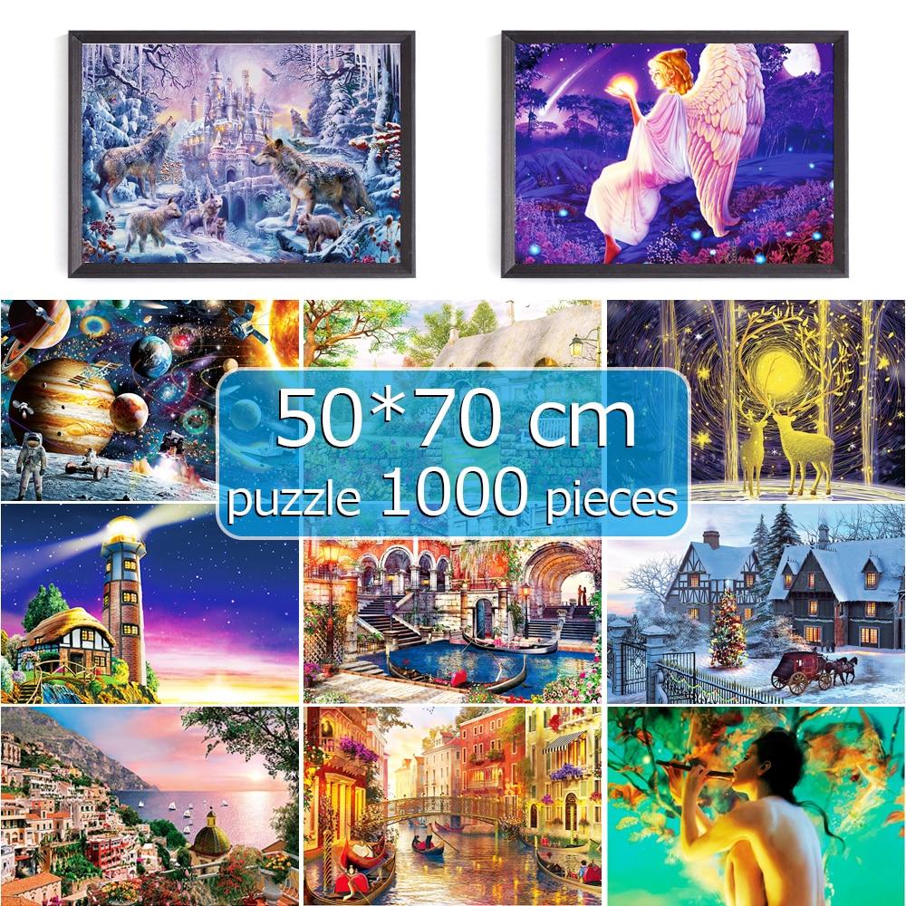 Puzzle 1000 Pieces Jigsaw Puzzle 50*70 Cm Assembling Picture Landscape Puzzles Toys For Adults Puzzle Games Educational Gift