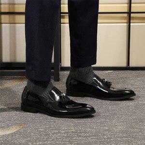 Image 5 - フェリックスchuパテントレザー男性ローファー靴黒にスリップメンズ靴結婚式のパーティーフォーマルな靴サイズ 39 46