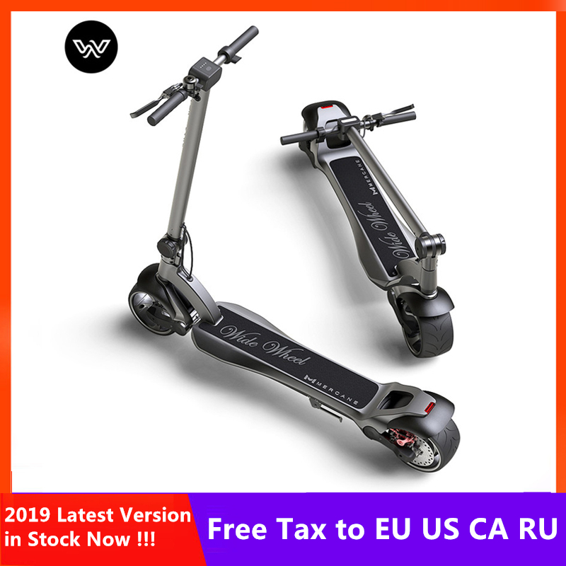 2019 dernière 48V 1000W Mercane WideWheel Scooter électrique intelligent 45 KM/H pliable large roue Kickscooter double moteur planche à roulettes