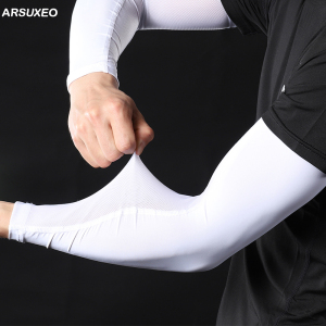 ARSUXEO 2020 Ice Silk Arm Sleeves Coolin
