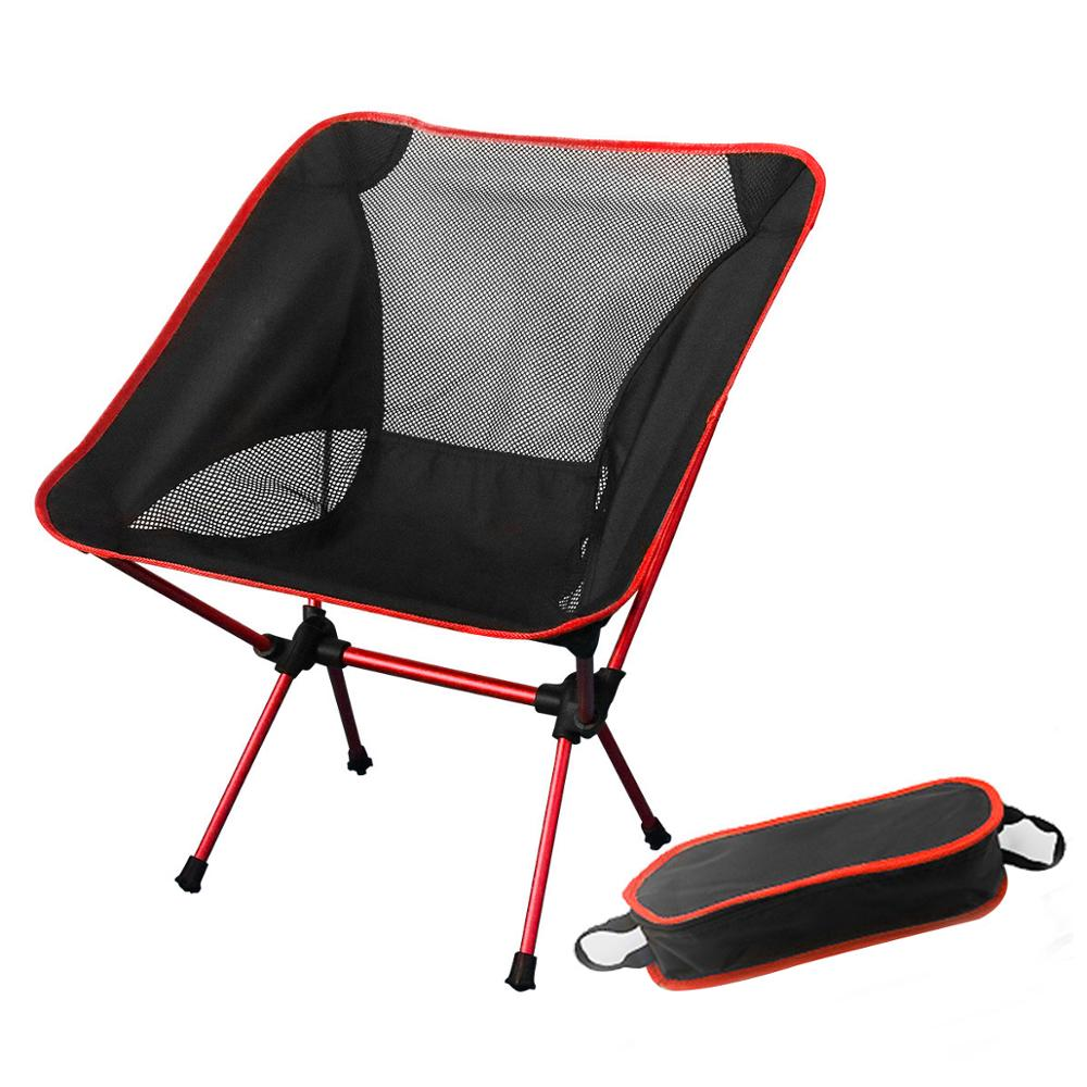 Travel Seat Ultralight Folding Moon Chair Superhard Furniture Outdoor Camping Portable Beach Light Fishing Extended Chair